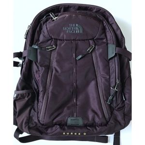 The North Face Surge Backpack Laptop Bag Plum